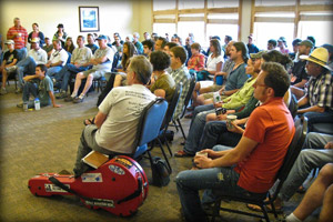 Morning meeting at Targhee Music Camp